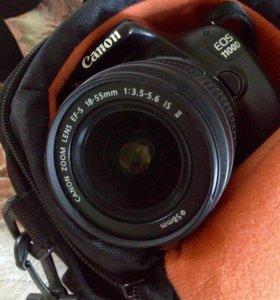 Срочно!Фотоаппарат Canon 1100D с сумкой и флешкой