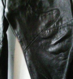 Натур.кожаные брюки
