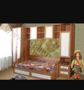 Мебель в детскую кроме кровати, фасад пол-ю белый