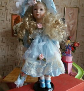 Кукла фарфоровая для украшения интерьера и игры