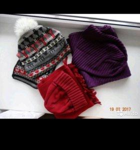 Комплект шапочка - шарф