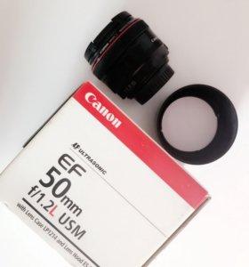 Объектив canon 50 mm 1.2 L