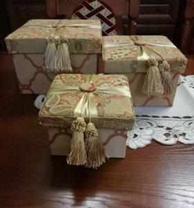 Шкатулки-коробочки интерьерные