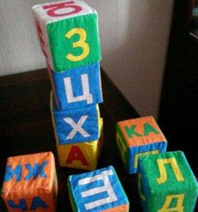 Мягкие развивающие кубики Азбука