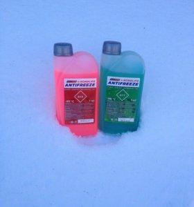 Антифриз красный G12, зелёный G11 (1 кг)