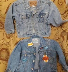 Куртки джинсовые р. 116
