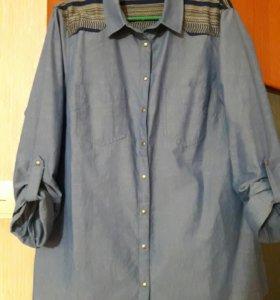 Котоновая рубашка.новая.только примерка была