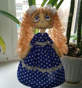 Текстильная кукла Синеглазка.