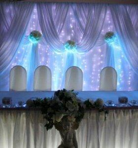 Световое оформление свадьбы и праздников