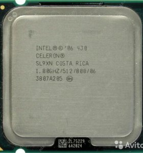 Intel Celeron Processor 430 512K Cache, 1.80 775