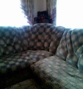 Мягкий уголок с креслом