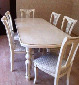 комплект столы и стулья