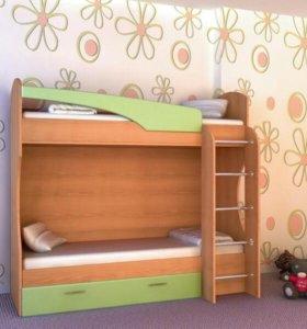 Кровать детская двухэтажная