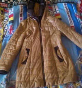 Пальто кожа заменитель