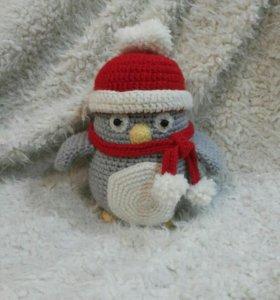 Вязаный мистер пингвин
