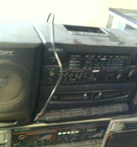 Пластинки виниловые кассеты японские магнитоллы 80
