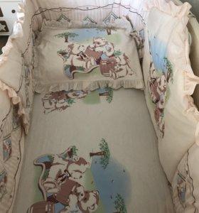 Комплект в детскую кроватку Le monde (Франция)