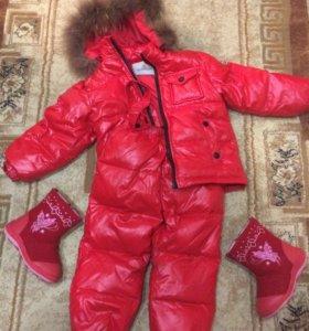 Зимний детский костюм,валенки