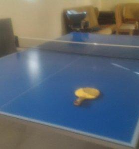 Теннисный стол и установка автоматическая для игры