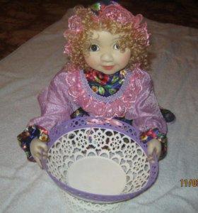 Кукла в чулочнои технике