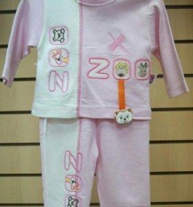 Новый комплект для девочки: кофта и штаны