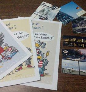 3 закладки, 3 открытки, 3 раскраски