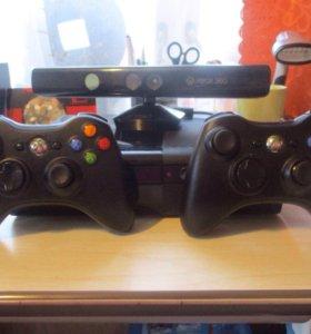 Xbox 360 на 250 гб с Kinect 2 гейпада