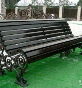 Скамейки, столы и беседки