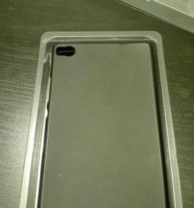 Чехол матовый черный для телефона HUAWEI P8