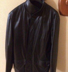 Мужская кожаная куртка Hugo Boss