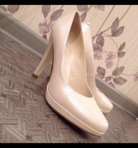 Туфли белые, кожа натуральная, свадебные