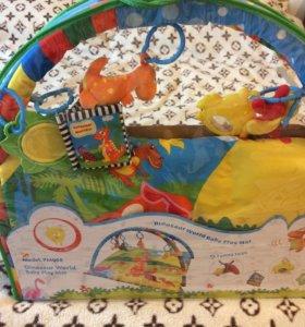 Детский развивающий коврик Планета Динозавриков