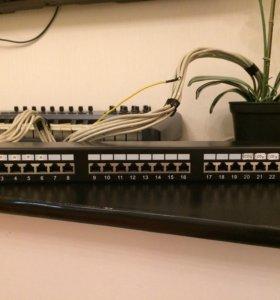Б/у патч-панель CAT.5E на 24 порта