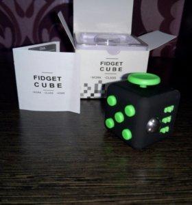 Fidget Cube Green + кейс Фиджет куб (антистресс)