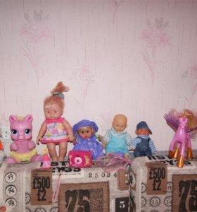 Игрушки,куклы для девочки пакетом