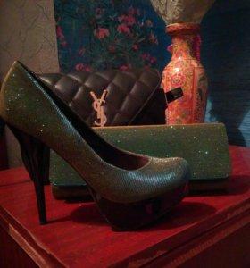 Туфли с клатчем