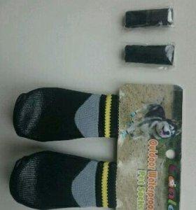 Прорезиненные носки для небольшой собаки