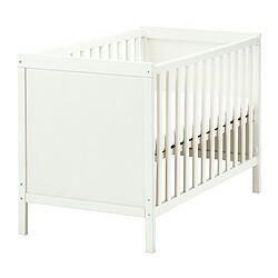 Кроватка детская IKEA+матрас+борта+ балдахин