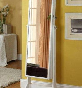 Зеркало - шкаф для бижутерии и аксессуаров