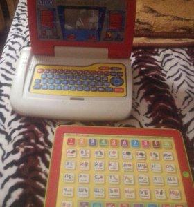 Азбука и детский обучающий ноутбук