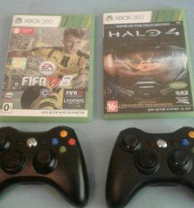 Xbox 360 (+10 игр и 2 джойстика)