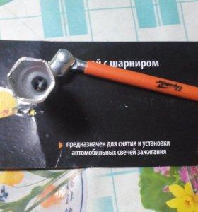 Свечной ключ Sparta с шарниром 21 мм