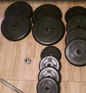 Штанга с блинами 140 кг