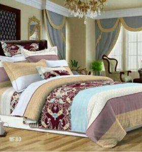 Комплект постельного белья евро твил-сатин