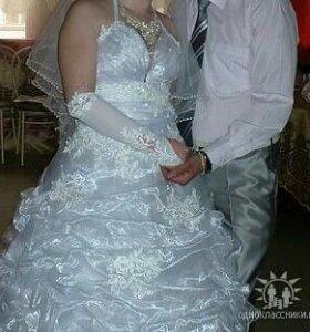 Свадебное платье + костюм.
