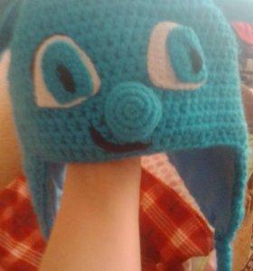 Шапка вязаноя,!