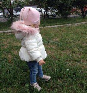 Куртка gulliver курточка 74-80р в подарок шапочка