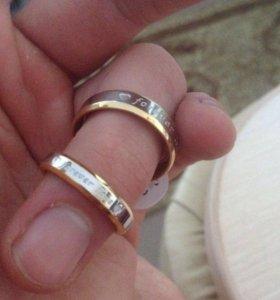 Кольца для влюблённых с гравировкой Forever Love