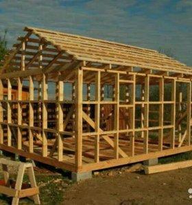 Кровли,каркасные дома,строительство крыш,домов.