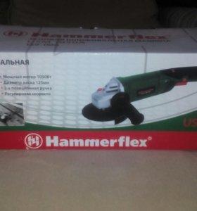 Шлифовальная машина угловая Hammerflex USM 1050A